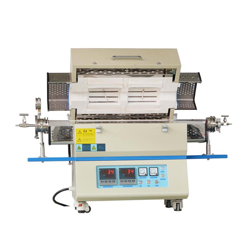 OTL1200-1200双翻盖双温区管式炉